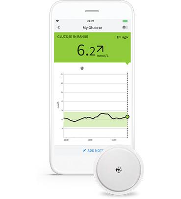 FreeStyle LibreLink app and sensor